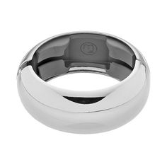 Funktional Wearables Monroe Hinged Bangle Bracelet for Activity Tracker, Silver