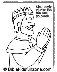 King David And Nathan Coloring Page Tell The Story For Kids King Solomon Coloring Pages