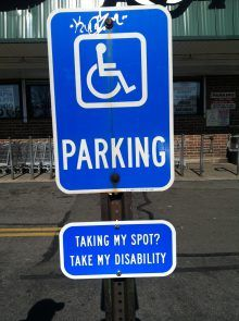 Handicap Parking Advocacy Sign Installed in Key Food Parking Lot Removed - Around Town - Park Slope, NY Patch