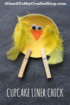 Cupcake Liner Chick - Kid Craft