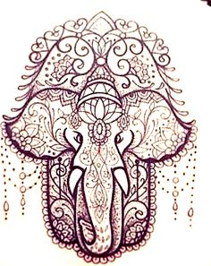 Hamsa Tattoo Design, Hamsa Hand Tattoo, Tattoo Designs, Body Art Tattoos, Hand Tattoos, Arabic Tattoos, Tatoos, Hannah Tattoo, Elefante Tattoo