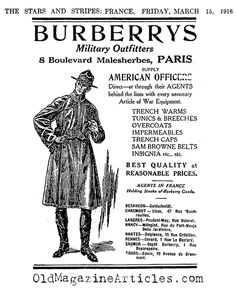 A Brit by the name of Thomas Burberry established his heritage luxury brand Burberry in 1856, and patented his own water-repellent fabric in 1879. Burberry is known for their classic double-breasted trench coat with signature shoulder straps and  D-rings (for holding equipment during WW1). The coat also features ten buttons down the front, waist and wrist belts, wide lapels, a gun flap and raglan sleeves in their iconic khaki colour with plaid lining.