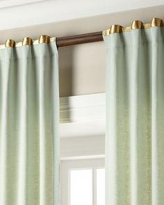 Home Silks, Inc. Hudson Metallic-Band Curtains