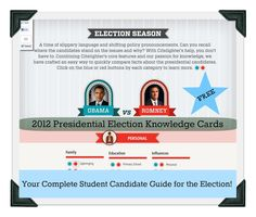 Kleinspiration: 2012 Presidential Election Knowledge Cards: Complete Student Candidate Guide via @Citelighter