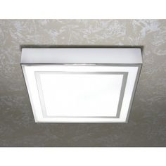 Browse the HIB Yona Square Ceiling Light online. The sleek, square design is finished in chrome with matching detailing. At Victorian Plumbing now. Square Ceiling Lights, Led Ceiling Lights, Bathroom Ceiling Light, Bathroom Lighting, Glass Shower Enclosures, Mirror With Shelf, Lighting Solutions, Light Fittings, Light Art