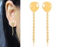 Clip-ons Invisible clip on earrings 14A Non Pierced by boadNNcraft