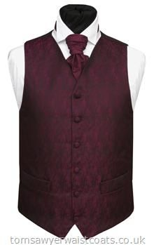 Aubergine wedding - this vest with jeans boots and a cream colored shirt no tie
