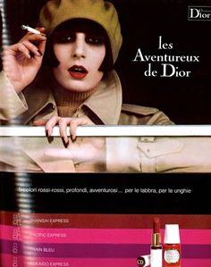 Christian Dior 'Les Aventureux de Dior' Nail Enamel & Lipstick Ad