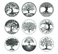 tattoo tree of life / tattoo tree _ tattoo tree of life _ tattoo tree of life woman _ tattoo tree small _ tattoo tree men _ tattoo tree roots _ tattoo tree arm _ tattoo tree sleeve Symbol Tattoos, Body Art Tattoos, Tatoos, Roots Tattoo, Tattoo Life, Tree Of Life Tattoos, Diy Tattoo, Black And White Tree, Middle White