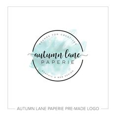 Premade Logo Design | Watercolor Flower Logo | Photography Logo | Shabby Chic Logo | Watermark | Etsy Branding | Branding Package