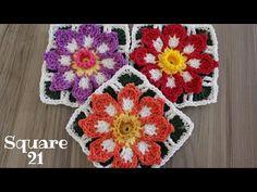 Crochet Rug Patterns, Crochet Motif, Crochet Top, Crochet Squares, Crochet Granny, Pattern Blocks, Blanket, Knitting, Floral