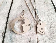 Dog tag Hand stamped dog tag Custom dog tag Dog tag with Cheap Dog Tags, Cheap Pets, Gifts For Pet Lovers, Pet Gifts, Dog Lovers, Dog Tags Pet, Custom Dog Tags, Thing 1, Matching Necklaces