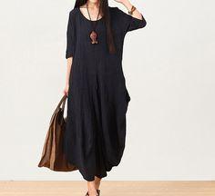 women linen dress maxi dress / Summer dress /Loose by chaxuan