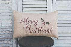 A personal favorite from my Etsy shop https://www.etsy.com/listing/463936196/merry-christmas-pillow-coverlumbar