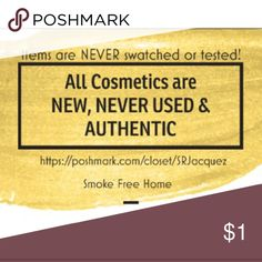 New & NEVER used cosmetics! Your health & safety are #1! I will never switch or test an item prior to sale. Purchase with confidence. I would never buy used cosmetics and I will NEVER sell them. Sephora Makeup Eyeshadow
