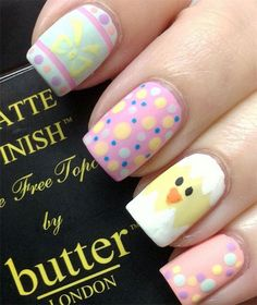 12-Easter-Chick-Nail-Art-Designs-Ideas-Trends-Stickers-2015-4