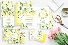 Tropical Wedding invitation with white envelope Wedding invitation