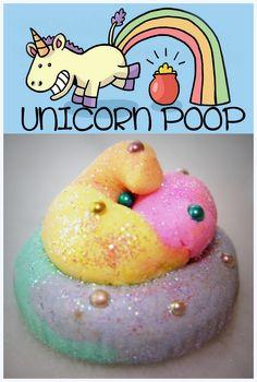 Unicorn Poop Bubble Bath Bars - Tutti Frutti Fragrance. With added Vitamin E Oil