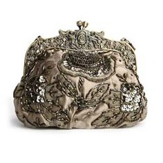 Mariell's exquisite vintage evening bag is embellished on both sides