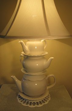 Teapot lamp, might be cute with colored ones too