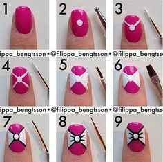 nail art step by step - for more findings pls visit www.pinterest.com/escherpescarves/