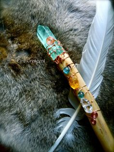 Water Nymph  Fluorite and Cedar Wand by EireCrescent on Etsy, $74.99