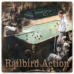 Railbirds 12 x 12 Vintage Metal Sign | Man Cave Kingdom - $32.00