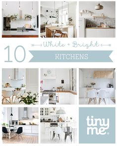 10 Bright and White Kitchens ~ Tinyme