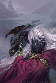 Elf and companion. ~Tyler Jacobson