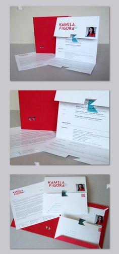 Personal Resume by kamila figura, via Behance