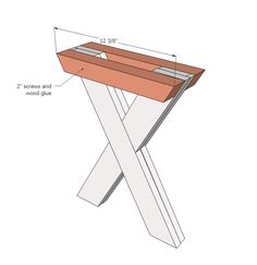 Ana White | Build a Ashley's X Bench for X Picnic Table | Free and Easy DIY Project and Furniture Plans