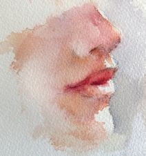 to paint facial features with Hazel Soan Art Watercolor, Watercolor Portraits, Watercolor Portrait Tutorial, Watercolour Tutorials, Painting Tutorials, Watercolor Landscape, Watercolor Flowers, Painting People, Drawing People