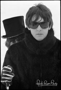 Henry Grossman photo of McCartney. Surprisingly fresh look in those sunglasses. Guess that's what retro does for style.
