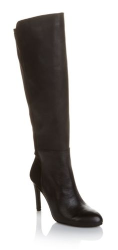 The smell of pumpkin spice fills the air! It must be time to break out the big boots! Fall and winter wouldn't be the same without a pair (or two) of tall, sleek boots! This luxurious pair by Vince Camuto have a stretch back panel, dressy leather-covered high heel and a  rubber sole for the best combination of style and comfort!