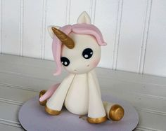 Little Unicorn Fondant Cake Topper
