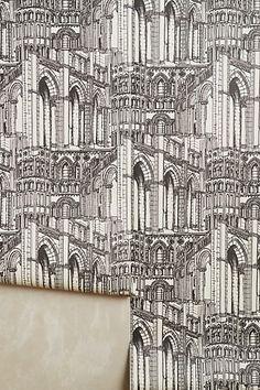 Gothic Arches Wallpaper #anthropologie