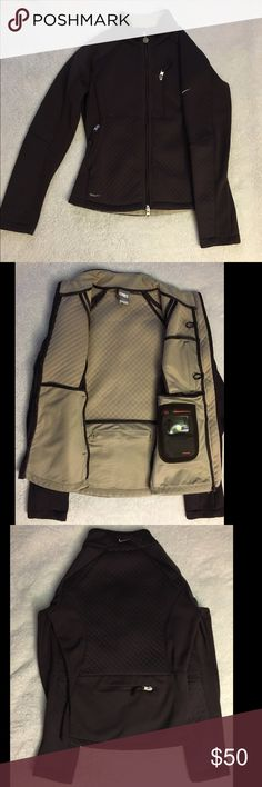 Brown NikeFIT jacket Brown and beige small NikeFIT jacket, wore a couple of times Nike Jackets & Coats