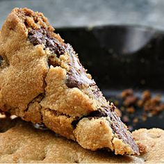 Skillet Cookie - it's a snow day, i wanna cookie...turning on the oven.. :)