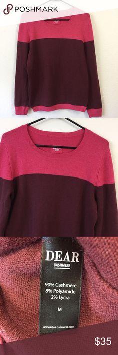 "Dear Cashmere Sweater Fantastic cashmere sweater in excellent condition Approximate measurements: Length: 24""  Pit-2-pit: 18"" 90% Cashmere 8% Polyamide 2% Lycra  (92) Dear Cashmere Sweaters Crew & Scoop Necks"