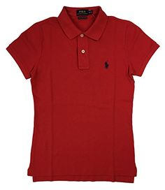 0b94c6800 Ralph Lauren Polo Womens Knit Skinny Fit Polo Shirt Pony Logo *** For more  information, visit image link. (This is an affiliate link)  #WomensTopsandTees