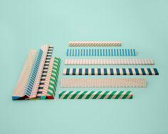 Hay wooden rulers