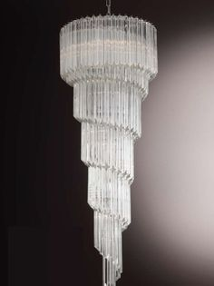 9 best glass prism chandeliers lights images on pinterest this gorgeous murano glass stairwell prism chandelier can be made for you in any size you aloadofball Gallery