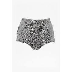 French Connection Cosmic Sparkle Short ($56) ❤ liked on Polyvore featuring shorts, embellished shorts, sparkly shorts, short shorts, hot pants i galaxy shorts