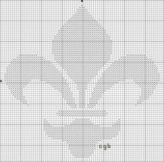 free fleur-de-lis cross stitch pattern