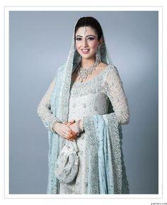 Pakistani Bride - Bridal by Bunto Kazmi Pakistani Wedding Dresses, Bridal Wedding Dresses, White Wedding Dresses, Bridal Outfits, Indian Dresses, Desi Wedding, Wedding Suits, Wedding Ring, Bollywood Outfits
