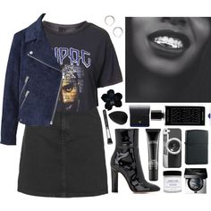 2pac by s-ensible on Polyvore featuring moda, Topshop, Acne Studios, Gianvito Rossi, Casetify, MAC Cosmetics, Bobbi Brown Cosmetics, Clé de Peau Beauté, beautyblender and Agonist