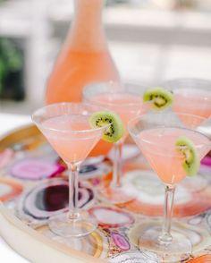 Kiwi Pink Lemonade Cocktails  
