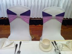 Purple & Lilac double chair band event decor