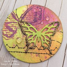 Artist Trading Coins new craft trend #ArtistTradingCoins #newcrafttrend #distressoxide #stamping #fauxstitching #eccopigmentpen #gerryscraftroom #handmade #pretty #handcrafted #makersmake #gerryscraftroom #crafts #crafting #papercrafting #technique #video #followonyoutube