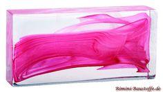 #Glasbaustein Pietre di Vetro, in der Farbe Soul Rosa e Bianco, in vielen verschiedenen Maßen erhältlich